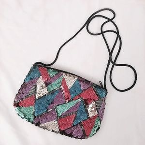FINAL FLASH- 80s Abstract Sequin Bag